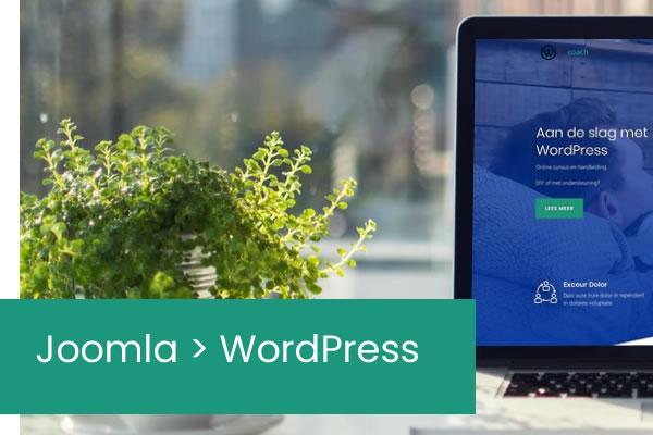 Joomla naar WordPress